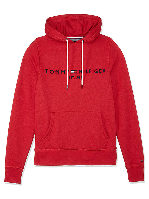 Tommy Hilfiger chest logo hoodie Red/Black