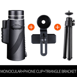 Professional Monocular Powerful Telescope for Mobile Night Vision 40X60 Military Eyepiece Handheld Objective Lens Hunting Optics