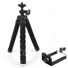 Load image into Gallery viewer, Flexible Sponge Octopus Mini Tripod With Bluetooth Remote Shutter For iPhone