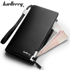 Baellerry Men Wallets Classic Long Style Card Holder