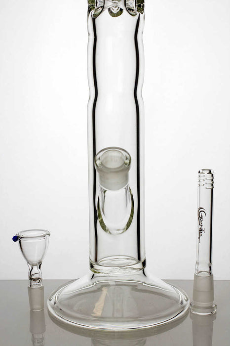 "18"" genie yellow dot curbed tube glass bong - One wholesale Canada"