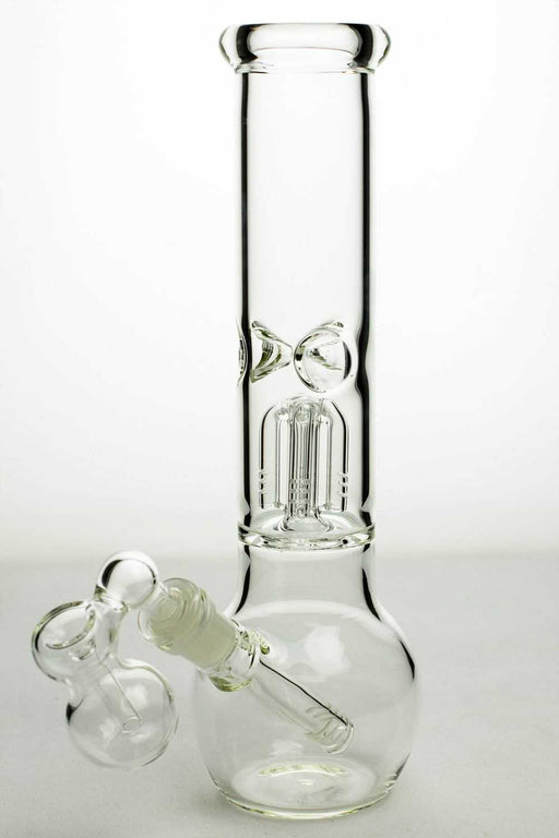 "11"" glass round base water bong with 4 arms percolator - One wholesale Canada"
