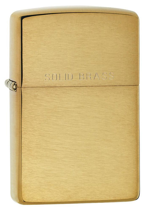 Zippo 204 Reg Br Fin Sld Brss - One wholesale Canada