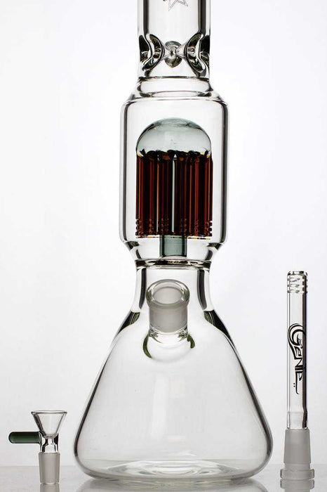 "18"" genie 12 arms percolator thick glass water bong - One wholesale Canada"