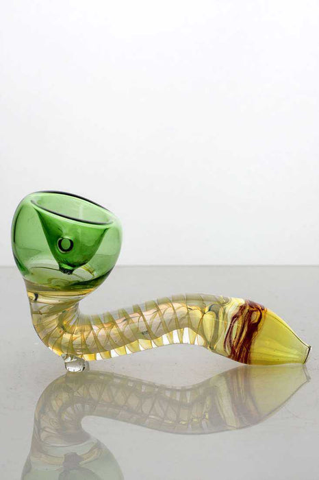 Changing colors Sherlock glass hand pipe - One wholesale Canada