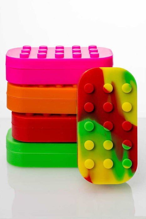 Brick Multi compartment Silicone Concentrate Container - One Wholesale