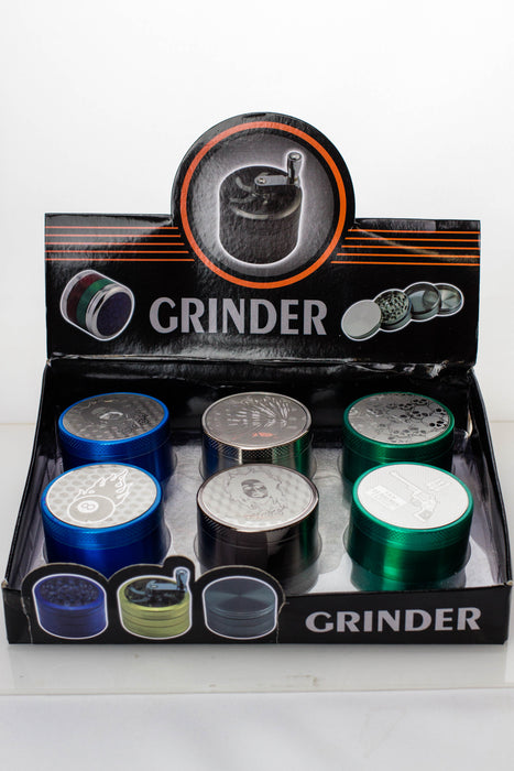 Engraved 4 parts metal grinder - One wholesale Canada