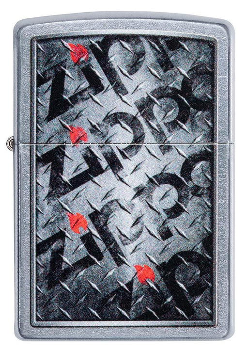 Zippo 29838 Diamond Plate Zippos Design - One wholesale Canada