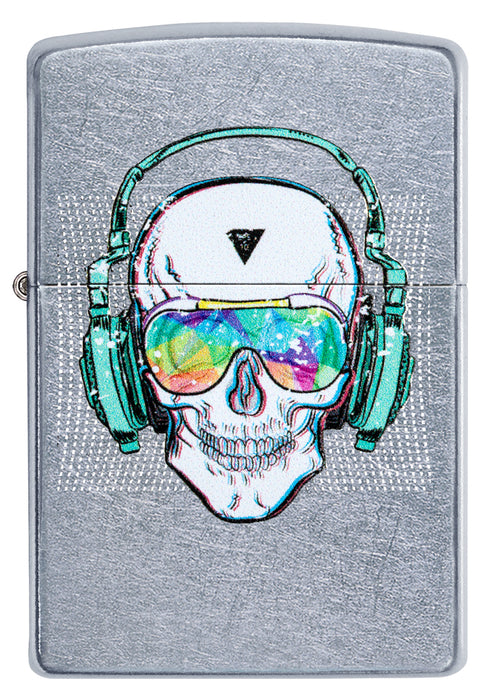 Zippo 29855 Skull Headphone Design - One wholesale Canada