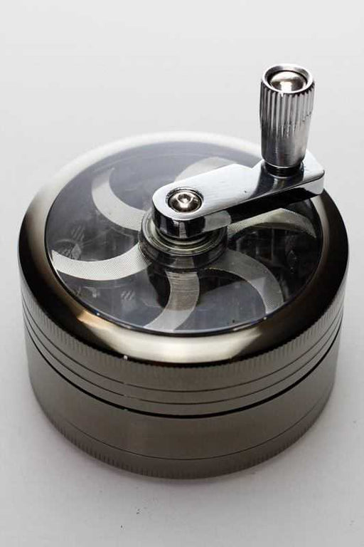3 parts aluminium herb grinder with handle - One Wholesale