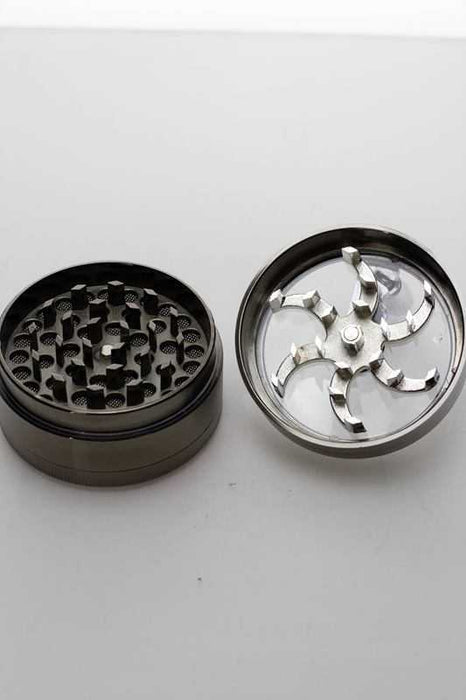 3 parts aluminium herb grinder with handle - One wholesale Canada