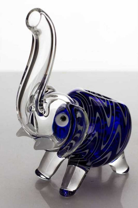 Standing elephant type B glass hand pipe