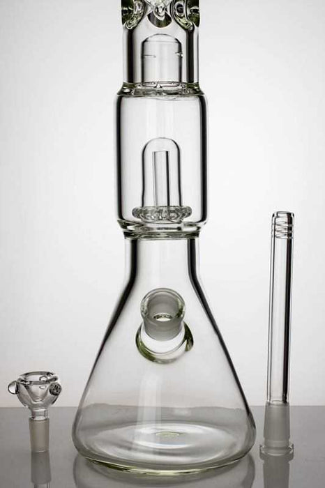 "18"" shower head perc. beaker water bong with splash guard - One wholesale Canada"