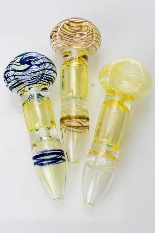 Changing colors glass hand pipe - One wholesale Canada