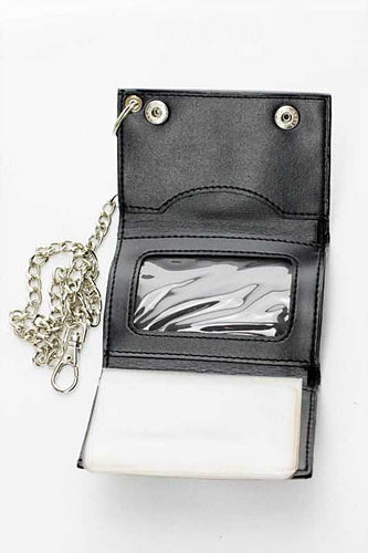 Tri-fold chain wallet - One Wholesale