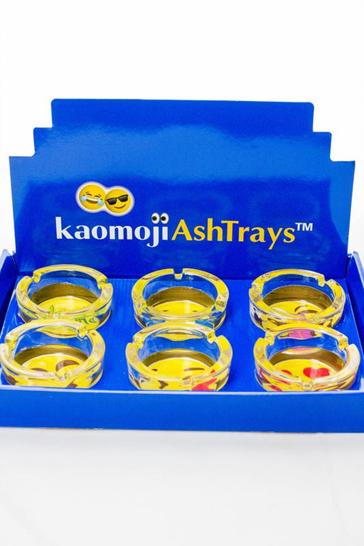 Round kaomoji design glass ashtray - One wholesale Canada