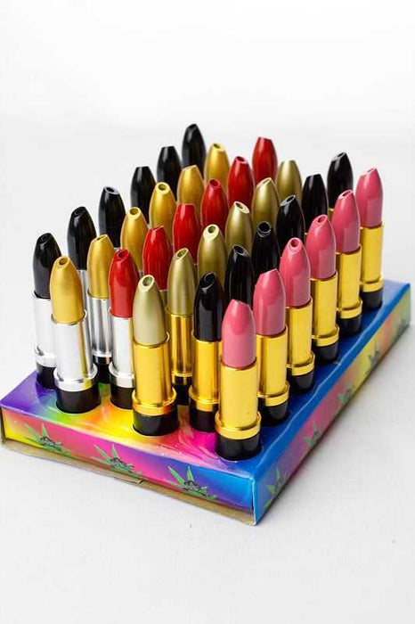 36-Lipstick shape metal pipe display - One wholesale Canada