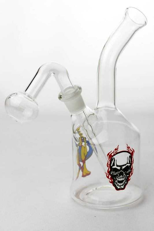 Skull printed Oil burner water pipe - One wholesale Canada