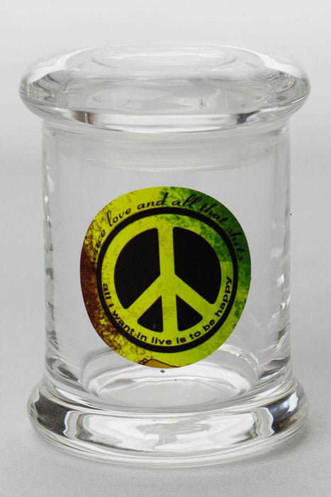 6 Glass stash 3 oz. Jars with silicone seal - One wholesale Canada