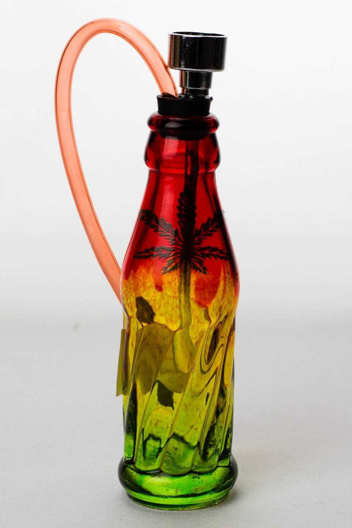 "5"" rasta mini glass water pipe display - One wholesale Canada"