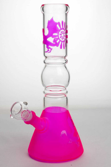 "12"" color coated glass water bong - One wholesale Canada"