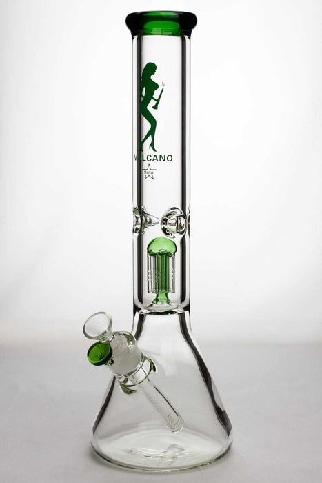 "16"" valcano 6 arms percolator 9 mm thick glass water bong - One wholesale Canada"