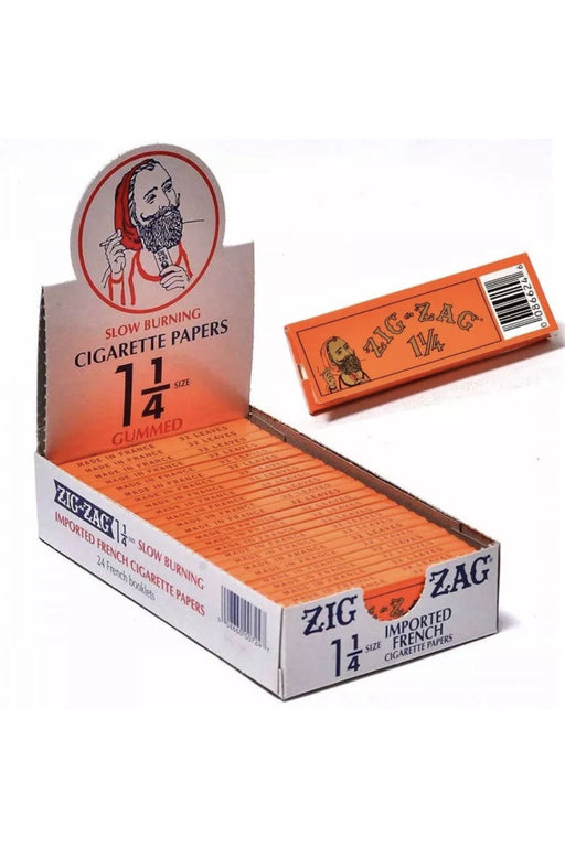 ZIG-ZAG Orange Slow burning Cigarette Rolling Papers Box - One wholesale Canada