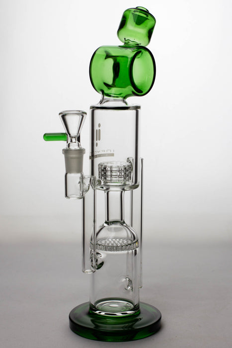 "12"" infyniti glass honey comb and shower head diffuser recycled bong - One wholesale Canada"