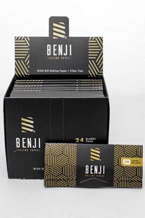 BENJI $100 BILL printed rolling paper + Filter Tips - One wholesale Canada