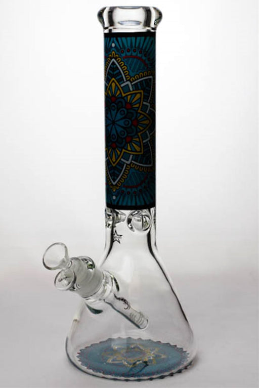 "14"" geometric design heavy glass beaker water bong - One wholesale Canada"