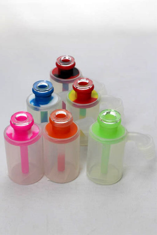 Silicone mini ash catcher with multi hole glass bowl display