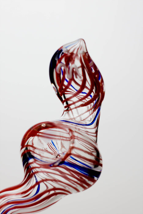 Cobra shape glass large hand pipe - One wholesale Canada
