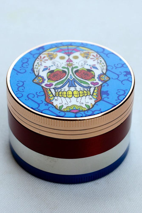 4 parts Skull picture color metal grinder - One wholesale Canada
