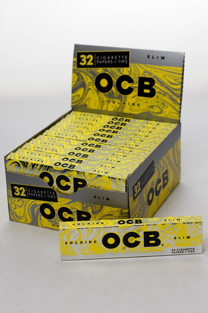 OCB Solaire slim rolling paper + Tips - One wholesale Canada