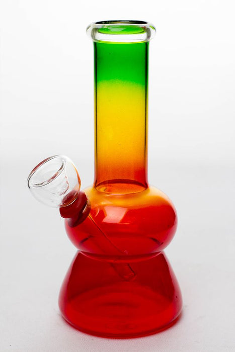 6 in. Rasta glass water bong - One wholesale Canada