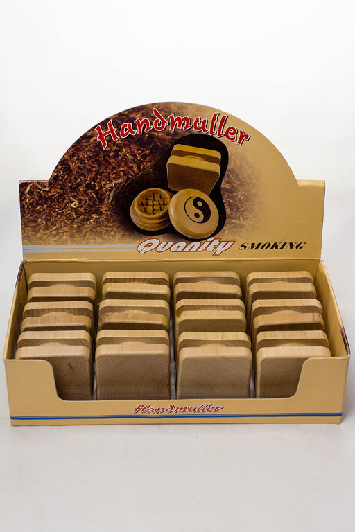 2 parts wooden grinder display box - One wholesale Canada