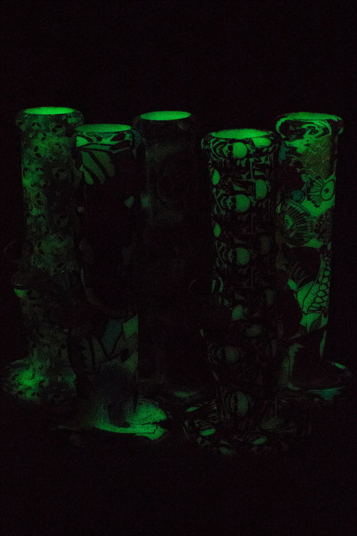"10"" Glow in the dark silicone tube water bong - One wholesale Canada"