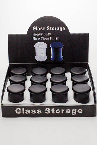 Heavy duty Glass stash 3 oz. Jars in a display case - One wholesale Canada