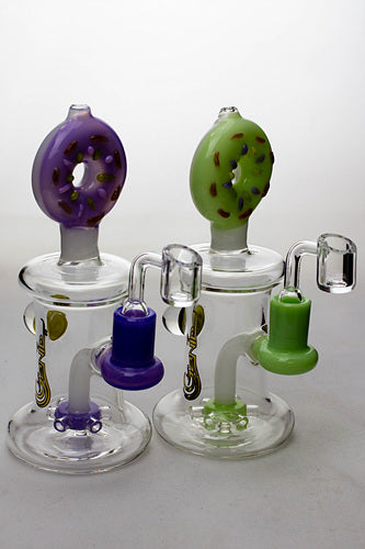 7.5 in. Donuts bubbler with a banger - One wholesale Canada