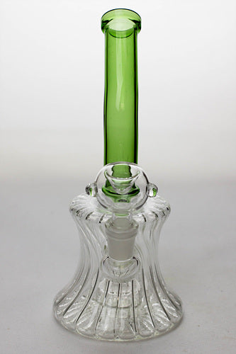 "7"" pattern glass bent neck bubbler with a diffuser - One wholesale Canada"