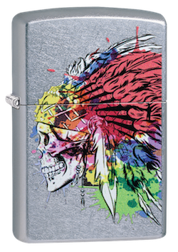 Zippo 49111 Skull With Headdress Design - One wholesale Canada