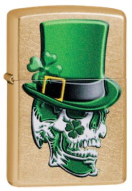 Zippo 49121 Irish Skull Design - One wholesale Canada