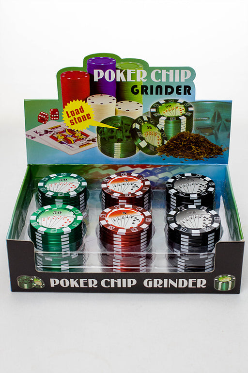 Poker Chip Herb Grinder in a display - One wholesale Canada