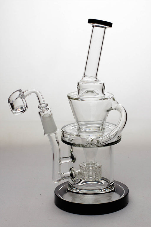 "10"" Barrel-diffuser recycled rig with a banger - One wholesale Canada"