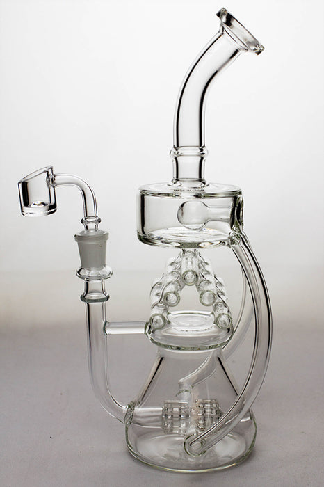 "11"" Inline shower head waffle recycled rig with a banger - One wholesale Canada"