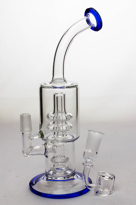 "9"" shower head percolator oil rig with a banger - One wholesale Canada"
