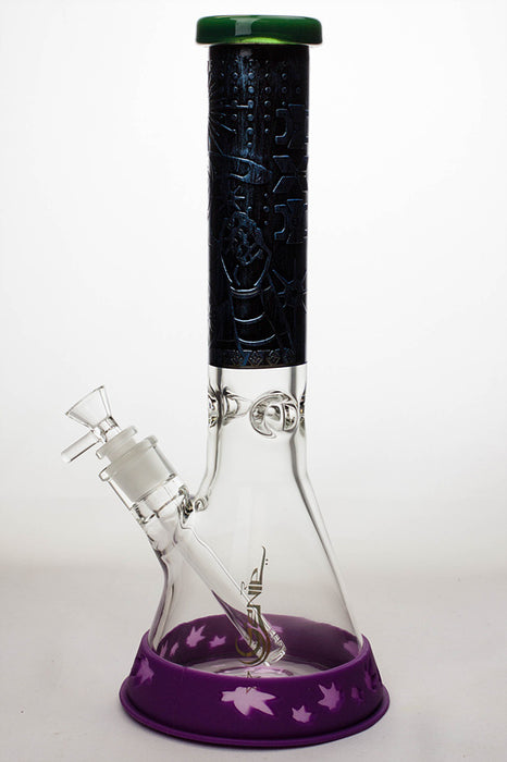 "13.5"" Genie 9 mm classic beaker bong with a silicone protector - One wholesale Canada"