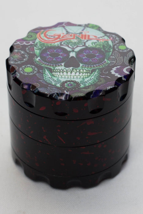 4 parts skull graphic printed large metal grinder - One wholesale Canada
