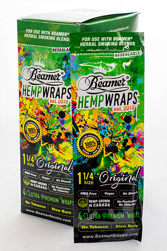 Beamer 1 1/4 SIZE vegan hemp wraps box