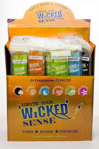 Wicked sense Incense 72 pack display - One wholesale Canada